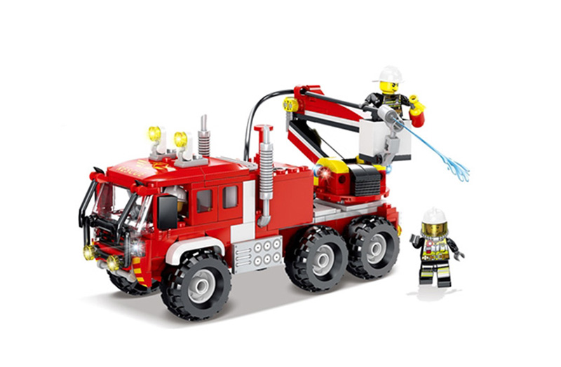 Fire Truck Building Kit Water Shooting